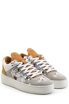 Mountain Cut Japanese Embroidered Suede Sneakers - Filling Pieces   WOMEN   GB STYLEBOP.COM