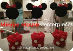 How to Make Cute Minnie Mouse Centerpieces for a Birthday Party!