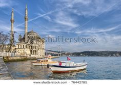Ortakoy Mosque on the Bosphorus shore at Istanbul