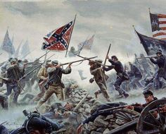 Picketts charge by Mort kunstler