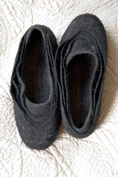 Handmade felted slippers made of softest merino and silk fiber.