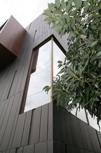 Titanium Zinc Roof and Cladding ANTHRA-ZINC® - Titanium-zinc covering, Interlocking cladding, Façade cladding material