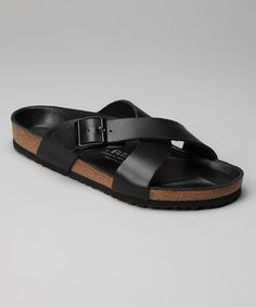 Take a look at this Nappa Black Tunis Slide - Men by Tatami on #zulily today!