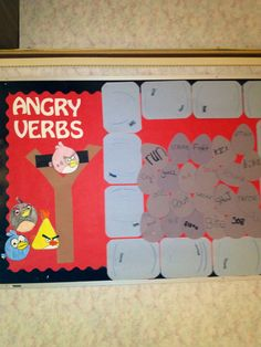 Angry Verbs! Decided to turn a classroom obsession into something productive! The kids even made the birds :)