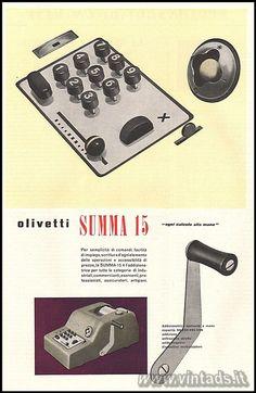 """olivetti summa 15 """"ogni calcolo alla mano"""", 1952"""