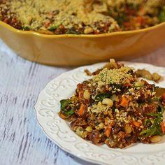 Quinoa & Sweet Potato Casserole #vegan #health #sweetpotato
