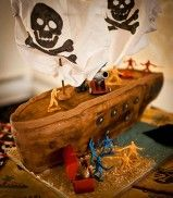 Something different!! Grooms Pirate Ship Wedding Cake - www.gemscakes.com/wedding-cakes