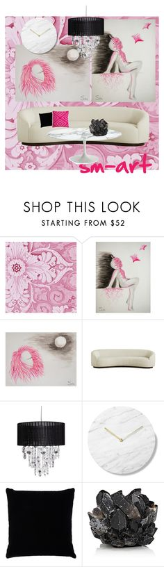 """""""modern decor living room pink"""" by sm-art on Polyvore featuring interior, interiors, interior design, home, home decor, interior decorating, Kevin O'Brien, McCoy Design, living room and modern"""