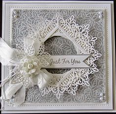 PartiCraft (Participate In Craft): Wednesday Weekly Card Giveaway - April 2015 Sue Wilson, Wedding Cards Handmade, Shabby Chic Cards, Spellbinders Cards, Engagement Cards, Wedding Anniversary Cards, Happy Anniversary, Embossed Cards, Scrapbook Cards