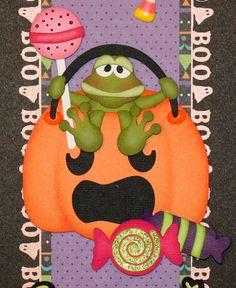 Halloween Border for Premade Scrapbook by PreciousMemorybyJuli, $13.99