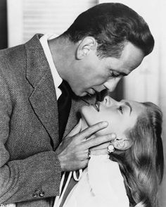 Bogart & Bacall -- Now that's some chemistry. Don't see this anymore.
