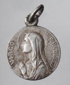 Virgin Mary Virgo Immaculata Vintage Medal on by CherishedSaints, $58.00