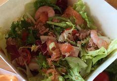 #insalata nr 42 Billo: misticanza, salmone, tonno, gamberetti e salsa rosa