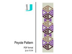Peyote bracelet pattern, beaded bracelet, bead pattern, delica peyote bracelet, beading tutorial, peyote bead pattern - JJ-p-2126 by JustJBoutique on Etsy