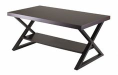 Winsome Korsa Coffee Table with Dark Bronze Legs