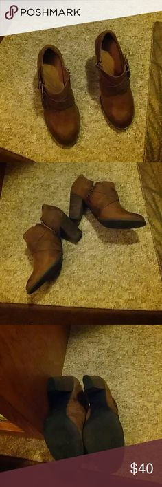 Shoes/boots Clarks worn for work once comfortable leather waterproof ankle boots. Clarks Shoes Ankle Boots & Booties