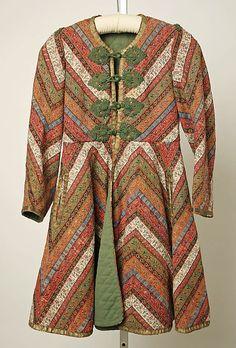 Jacket, Date: 19th century Culture: Iranian Medium: wool, metallic ribbon, cord, velvet