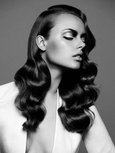 polished waves hair style
