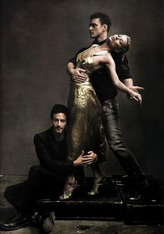 Justin Timberlake,Kate Moss and Marc Jacobs | by Annie Leibovitz