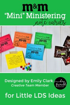 LDS Mini Ministering Note Cards by Emily Clark for Little LDS Ideas