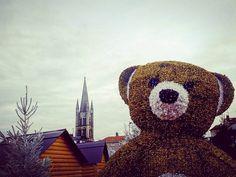 #sapin #clocher #ours géant... #MarchédeNoël de #Limoges   #Eglise Saint-Pierre  #LimogesTourisme  #hautevienne #igerslimousin #igersfrance #ig_france #igerslimoges #christmas #christmastime #christmasmarket  #clochersdefrance #patrimoine #christmastree #teddybear #bear