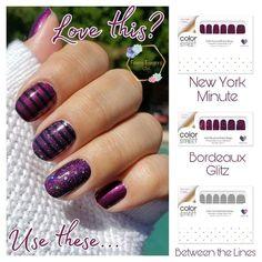 Nail Color Combos, Nail Colors, Mani Pedi, Manicure And Pedicure, Bunny Nails, Nail Polish Strips, Color Street Nails, Plum Color, Winter Nails