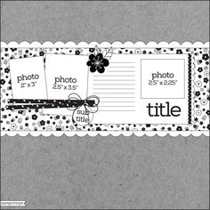 PageMaps Scrapbook Sketches, Scrapbooking Layouts, Learn To Sketch, Page Maps, Picture Layouts, Learning, Cards, 3 Picture, 2 Photos