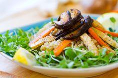 This Green Tofu Carrot Asian Spring Salad looks spectacular.