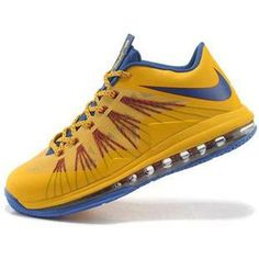 http://www.asneakers4u.com/ Nike Lebron X Low Shoes Yellow/Blue