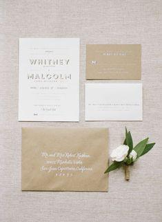 rustic chic spring wedding invitations/ modern bold spring wedding invitations #weddinginvitation