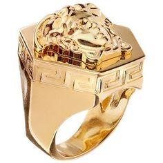 Versace Chunky 3D Medusa Ring