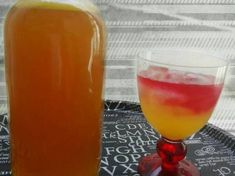 Σπιτική πορτοκαλάδα Hurricane Glass, Alcoholic Drinks, Wine, Tableware, Food, Liquor Drinks, Dinnerware, Hurricane Candle, Dishes