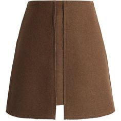 Chicwish Pocket of Charm Wool-blend Skirt in Tan ($42) ❤ liked on Polyvore featuring skirts, chicwish, beige, brown skirt, pocket skirt, wool blend skirt, tan skirt and beige skirt