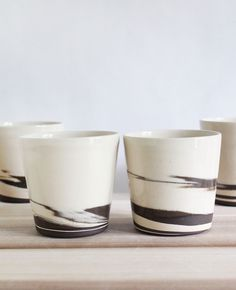 Julia Paul Pottery - Strata cups