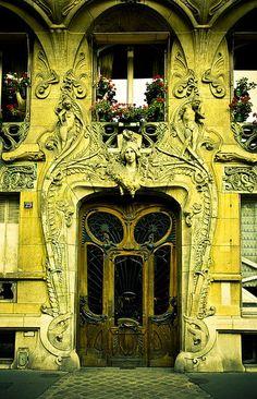 (via (74) Pin by Stephanie on Green | Pinterest | Art Nouveau, Paris and Doors)