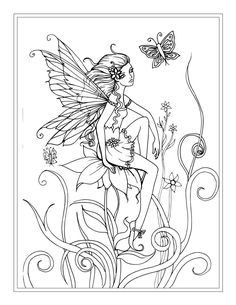 free flower fairy coloring page by molly harrison