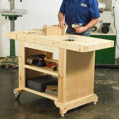 Woodworking Projects Budget-Friendly Workbench Woodworking Plan from WOOD Magazine Kids Woodworking Projects, Easy Wood Projects, Learn Woodworking, Woodworking Workbench, Popular Woodworking, Woodworking Furniture, Furniture Projects, Woodworking Videos, Woodworking Workshop