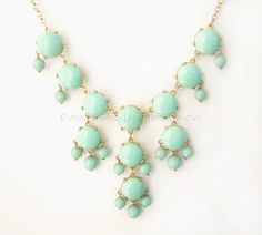Mint Green S  Small Size Smooth Bubble Statement by himediy, $15.00