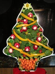 Christmas Tree veggie tray