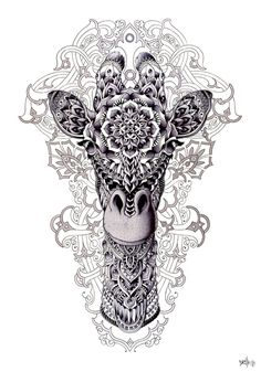 Loads of Zentangle animals for you to draw inspiration from, and then make your own. Including links for animal outlines and zentangle pattern ideas. Mandala Art, Mandalas Painting, Mandalas Drawing, Animal Mandala Tattoo, Geometric Giraffe Tattoo, Tattoo Elephant, Tattoo Animal, Et Tattoo, Tattoo Baby