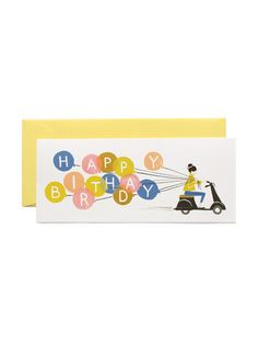 Rifle Paper Co Happy birthday scooter card