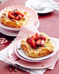 Rezept: Erdbeer-Plunderstücke