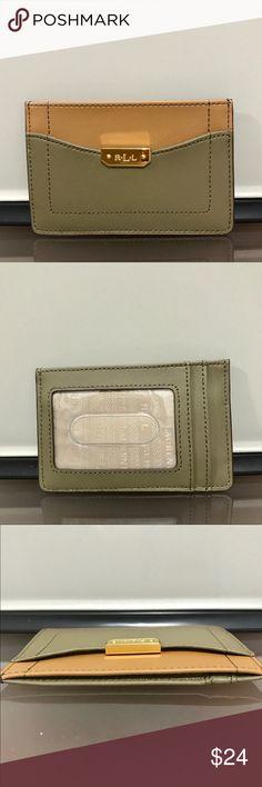"Ralph Lauren mini card case -Ralph Lauren card case -DIMENSIONS: 4.5"" W x 3"" H x 0.25"" D -1 slip pocket  -2 card slots  -1 ID Window  -Leather   ❌NO TRADING  📦FAST SHIPPER 🔝 RATED SELLER  🔝10% SELLER🏆 💌TAKE A LOOK AT MY FEEDBACK Lauren Ralph Lauren Bags Wallets"
