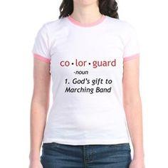 Definition of Colorguard Jr. Ringer T-Shirt #hornandcastle #marchingbandstuff