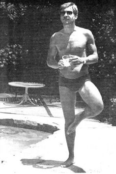 1960's: A young Harrison Ford  chilling out poolside