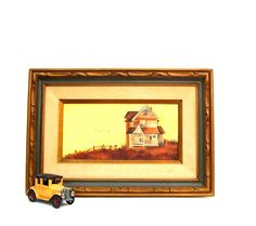 Vintage Painting Mid century Modern Framed Art by #OceansideCastle #vintageandmain