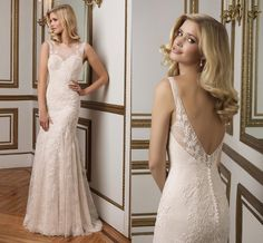 Wedding Dresses Cheap Justin Alexander 2016 Sheath Wedding Dresses With Open Back Sheer Neck Appliques Lace Elegant Bridal Gowns With Long Train Custom Made Wedding Dresses For Brides From Nicedressonline, $199.38| Dhgate.Com