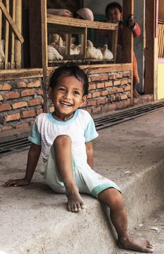 smiling boy on market in Maumere - Flores - Nusa Tenggara - Indonesia