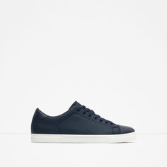 Image 1 of BLUE SNEAKERS WITH RUBBERISED TOE CAP from Zara