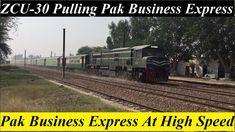 Pak Business Express Crossing Jia Bagga Railway Station At High Speed Pakistan Railways, High Speed, Railroad Tracks, Train, Business, Store, Business Illustration, Strollers, Train Tracks